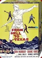 Cehennemden Teksas'a (1958) afişi
