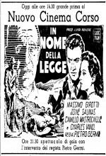 In nome della legge (1949) afişi