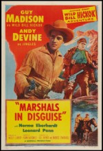 Marshals In Disguise (1954) afişi