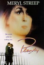 Plenty (1985) afişi
