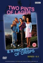 Two Pints Of Lager And A Packet Of Crisps