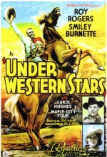 Under Western Stars (1938) afişi