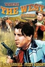 Where The West Begins (1938) afişi