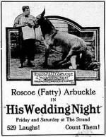 His Wedding Night (1917) afişi