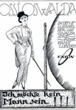 Ich möchte kein Mann sein (1918) afişi