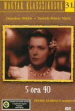 öt óra 40 (1939) afişi