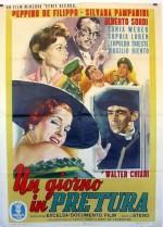 Un giorno in pretura (1954) afişi