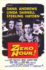 Zero Hour! (1957) afişi