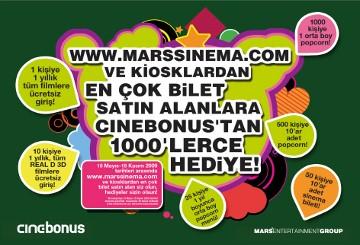 Cinebonus'tan 1000'lerce Hediye !